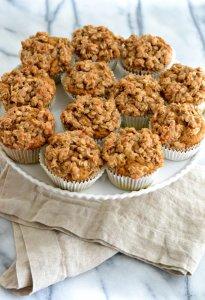 Pumpkin Muffins, Cinnamon Maple Topping