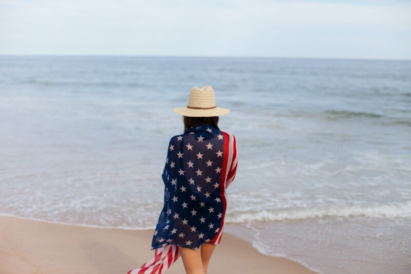 American Flag Montauk Beach (1)