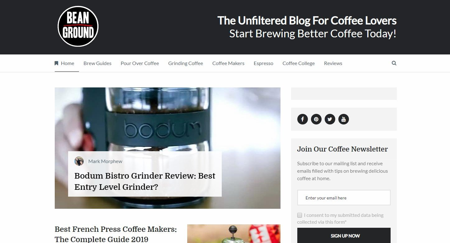 Best Coffee Blogs: Bean Ground