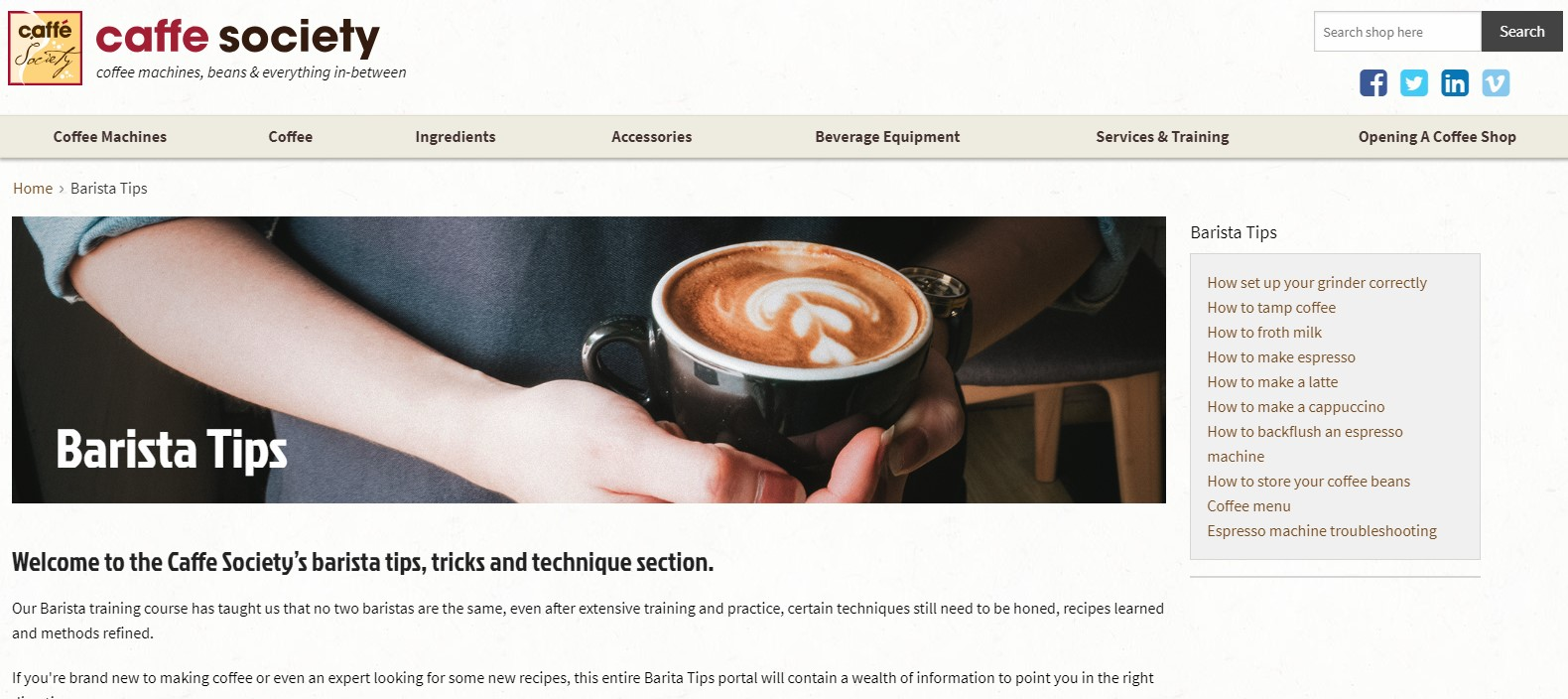 Best Coffee Blogs: Caffe Society
