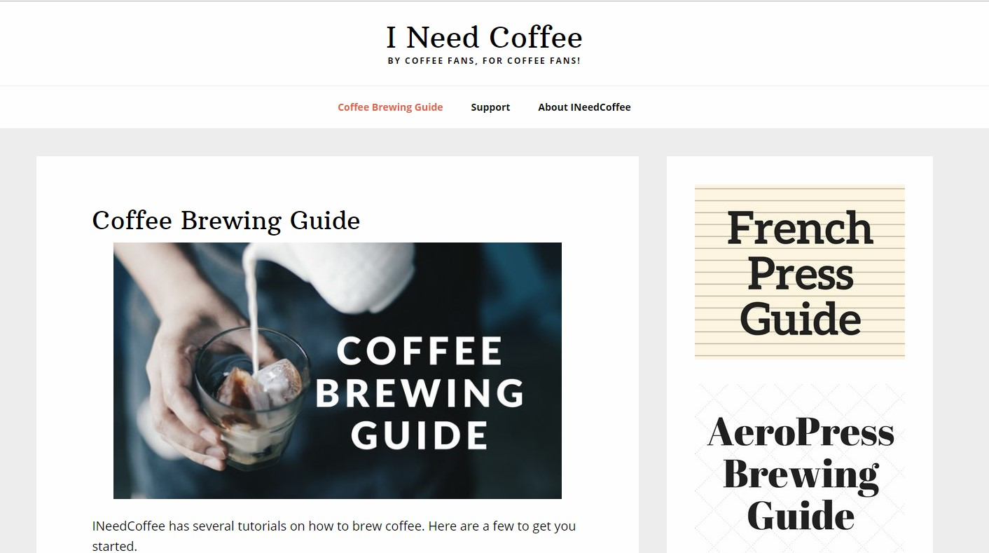 Best Coffee Blogs: I Need Coffee