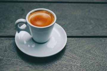 Shot of espresso in a cup