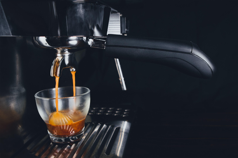 Espresso shot being pulled